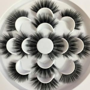 7 Pairs TOP 6D Dramatic Wispy Eyelashes 25mm Thick